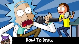✐ How To Draw - Rick and Morty ✐