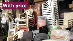 Different type of collection plastic chairs with prices