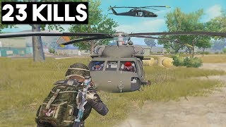 *NEW* HELICOPTER! | 23 KILLS SOLO vs SQUAD | PUBG Mobile 🐼