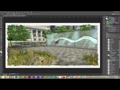 Perspective Rendering for Landscape Architecture: Photoshop Workflow