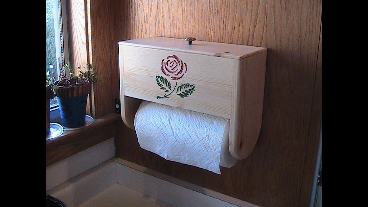 Kitchen Towel Storage Make A Paper Towel Holder With Storage Youtube