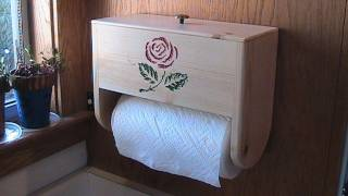 Make A Paper Towel Holder With Storage