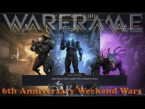Warframe - Hype For 6th Anniversary Weekend Wars! Mp3