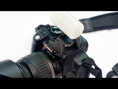 How To Make an Easy On Camera Flash Diffuser - DIY Technology Tutorial - Guidecentral