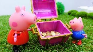 Пеппа! Игрушки из мультфильмов про Свинку Пеппу. #Peppa Pig и Джордж ищут клад!