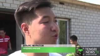 Поющий продавец арбузов из Павлодара стал героем соцсетей