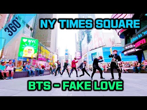[KPOP IN PUBLIC | NY Times Square] 360 BTS () - Fake Love Dance Cover