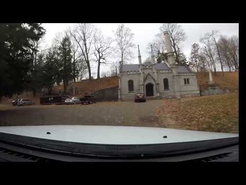 Driving in Mt Hope Cemetery Rochester NY