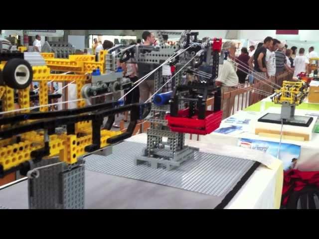 1st ORIGINAL Cabinovia 3S Lego (Ballabio 2009 - Lecco 2011) - Tricable Detachable Gondola Ropeway
