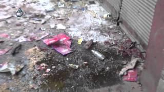 وكالة قاسيون  سقوط قذيفة على السوق الشعبي وسط مدينة دوما بريف دمشق 6-12-2015