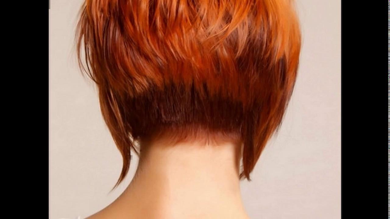 short haircuts back view stacked