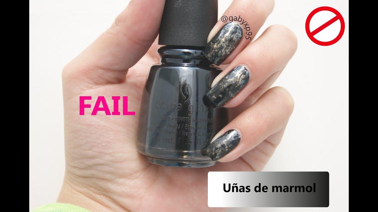 Fail!!! uñas de marmol - YouTube