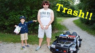 The Litterer with the Sketchy Mechanic and Kid Cops YouTube Family Fun Officer Ryan Kids Adventure V