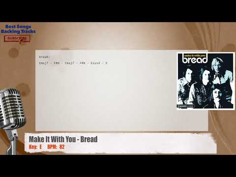 Make It With You - Bread Vocal Backing Track with chords and lyrics