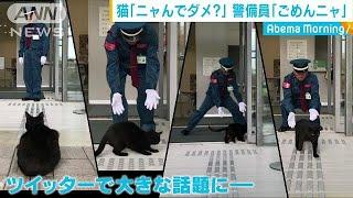 """歴史的""""迷""""勝負!?・・・小さな""""訪問者""""vs警備員(18/11/01) thumbnail"""