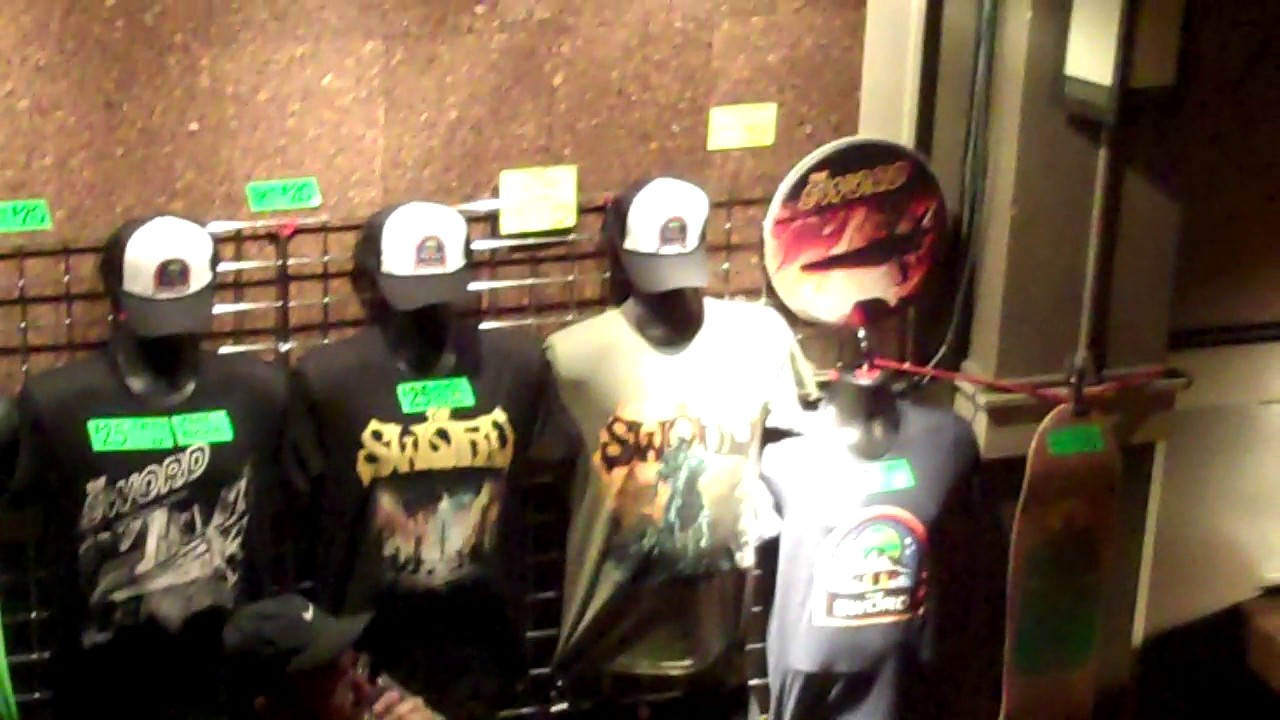 The Sword Merch Table