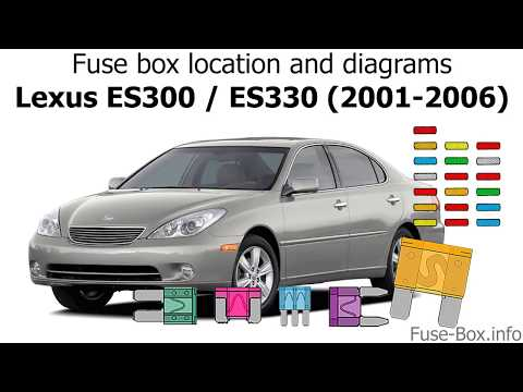 [EQHS_1162]  Fuse box location and diagrams: Lexus ES300 / ES330 (2001-2006) - YouTube | Lexus Es330 Fuse Box |  | YouTube