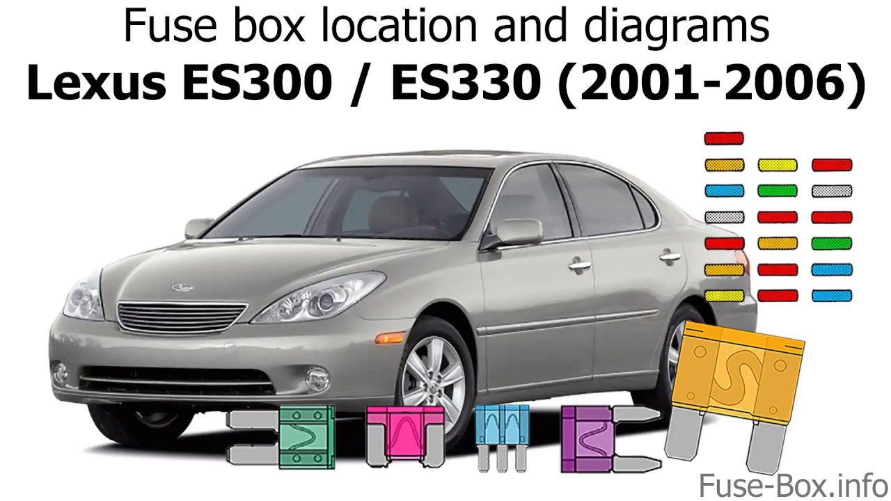 Fuse box location and diagrams: Lexus ES300 / ES330 (2001-2006) - YouTube | 1998 Lexus Es 300 Fuse Box |  | YouTube