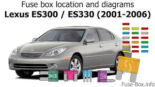[GJFJ_338]  Fuse box location and diagrams: Lexus ES300 / ES330 (2001-2006) - YouTube | Lexus Es 330 Engine Diagram |  | YouTube