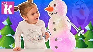 Как сделать СВЕТЯЩЕГОСЯ СНЕГОВИКА из прозрачной ленты DIY How To Make Clear Tape Snowman Nightlight