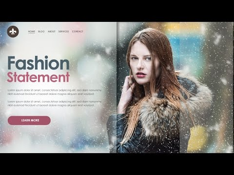 How to Design Creative Website Header in Photoshop | Web Design Tutorials
