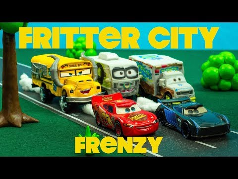 Fritter City Frenzy with Derby Cars Racers Lightning McQueen + Jackson Storm Mp3