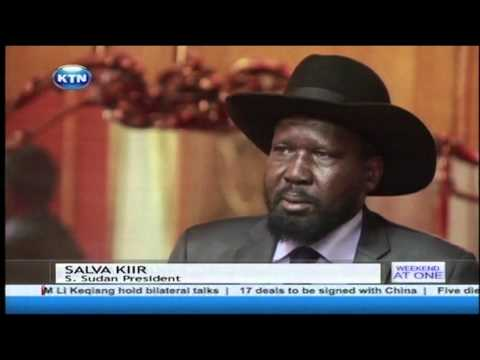 South Sudan President Salva Kiir and rebel leader Riek Machar sign Peace deal