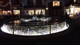 Vail Village's Seibert Circle $1.5 Million Dollar Water Fountain - Vail Colorado