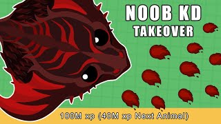 NOOB TAKES OVER THE SERVER WITH 100M KING RIPPER IN MOPE.IO