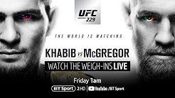 Live: UFC 229 weigh-ins - Khabib v McGregor