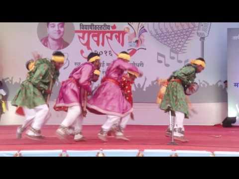 Aadivasi dance Dongrya Dev in youth festival faijpur