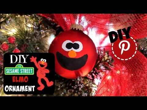 diy sesame street elmo ornament youtube