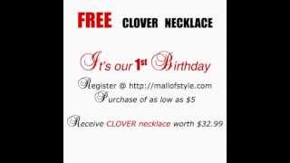 Free Jewelry - Four Leaf Clover Necklace Thumbnail