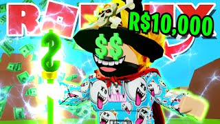 SPENDING R$10,000 TO BECOME THE MOST POWERFUL WIZARD IN ROBLOX WIZARD SIMULATOR! (How to Make Money)