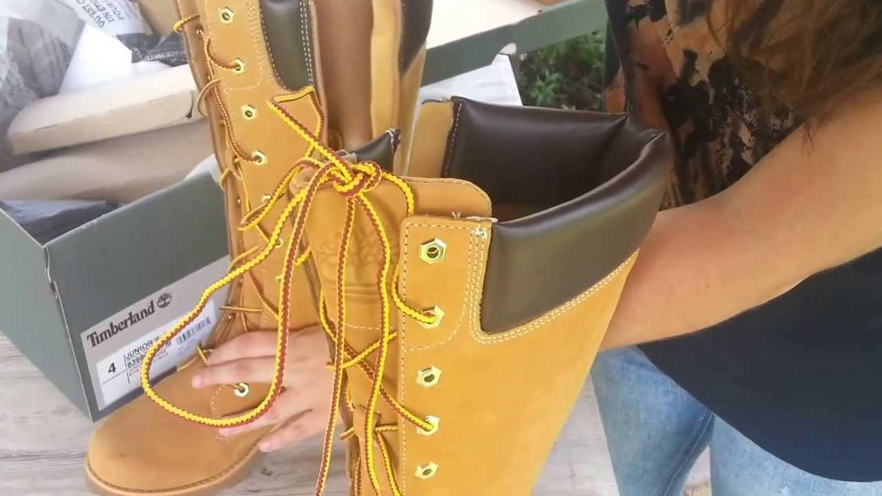de8122813d80 TIMBERLAND 83980 Junior Girls Asphalt Trail Classic Lace-Up w Side Zip -  YouTube