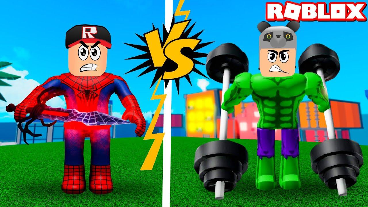 İkimizde Süper Kahraman Olup Kapıştık!! – Panda ile Roblox Super Hero Simulator