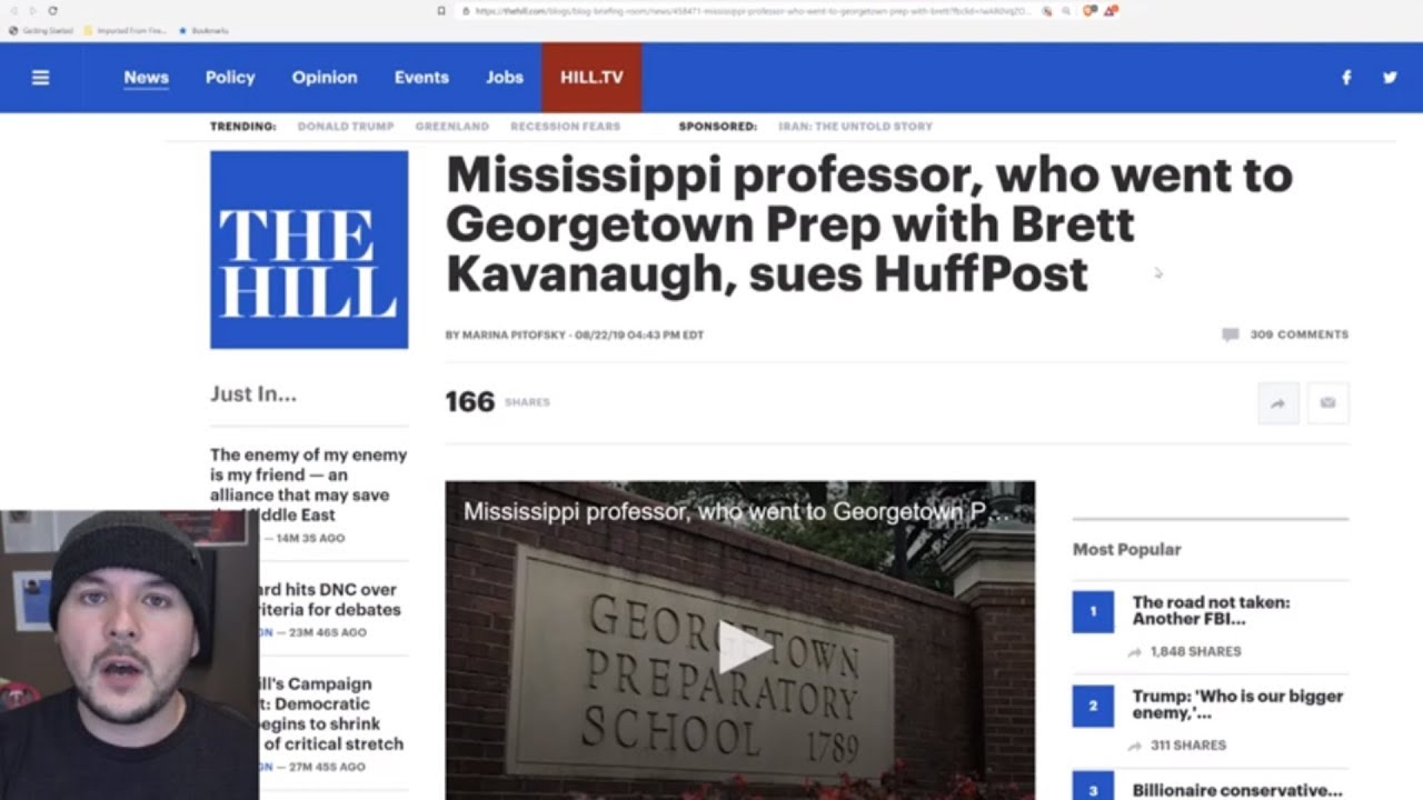 Huffington Post SUED For Defamation In Kavanaugh reporting, Accused Of Fake News