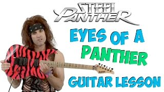 steel panther eyes of a panther guitar lesson