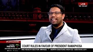 Reaction to court ruling on Mkhwebane, Ramaphosa case: Justin Ramages