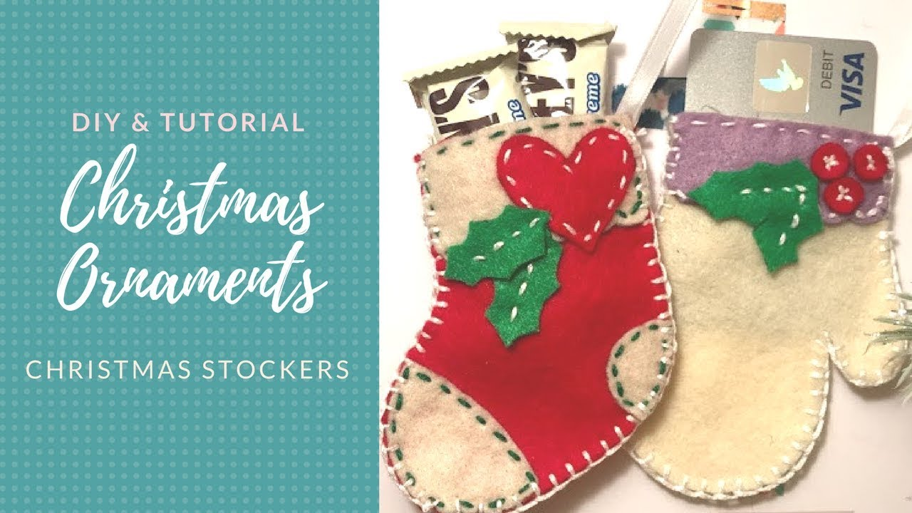 Diy Felt Christmas Ornaments Free Download Youtube