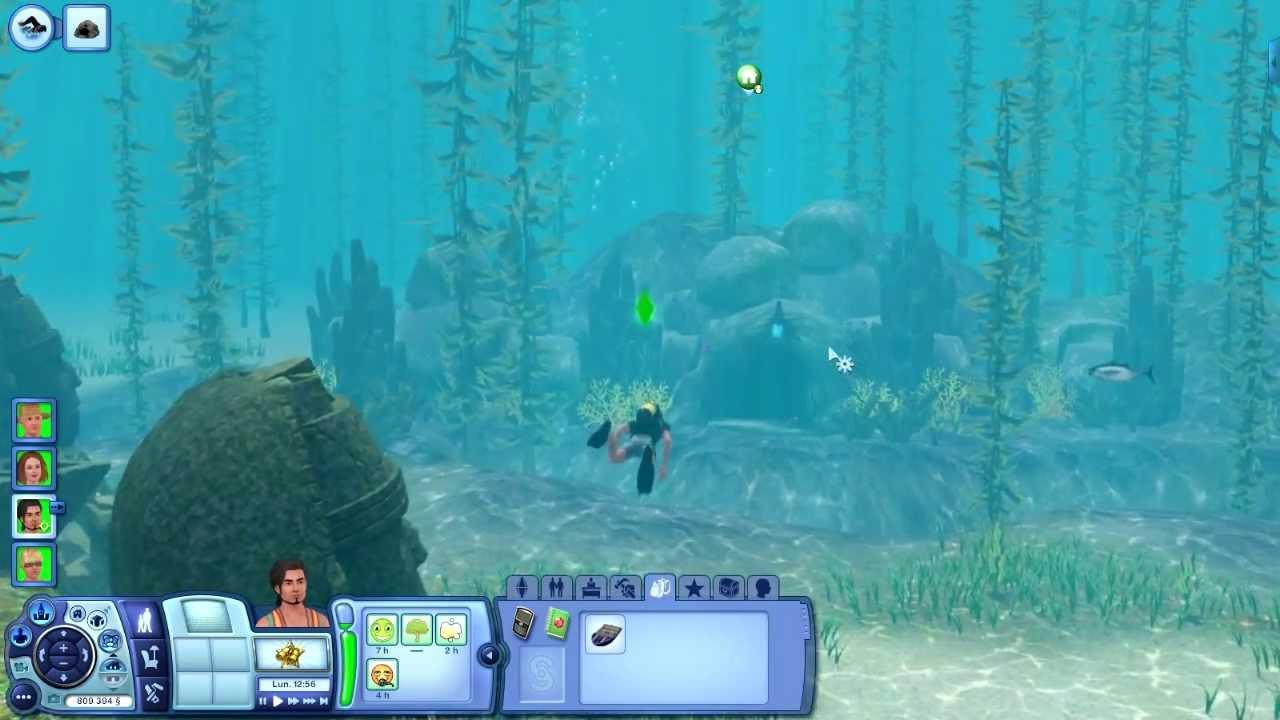 Faire de la plongée sims 3
