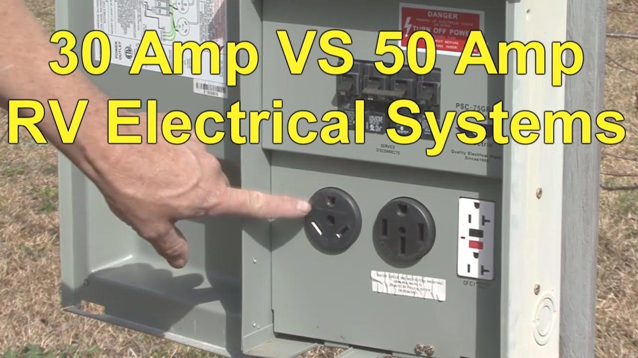 30 Amp Rv Plug Wiring Diagram Panel Box Rv 30 Amp Electrical System Vs Rv 50 Amp Electrical System