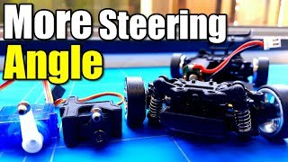 Wltoys K989 1 28 Rc Drift Project EP13 Steering Angle Mod To Make Sharper Turns With a Servo Upgrade