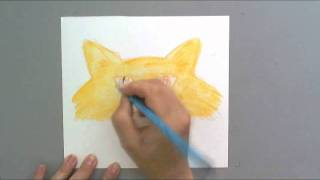 Val Webb   The Illustrated Garden   Draw a Cartoon Cat in Watercolor Pencils