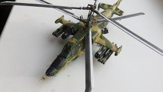 Как сделать радиоуправляемый вертолет КА-50 из бумаги Часть-1