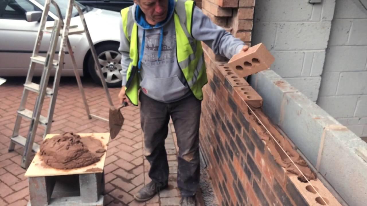 How to Brick up a garage door  YouTube