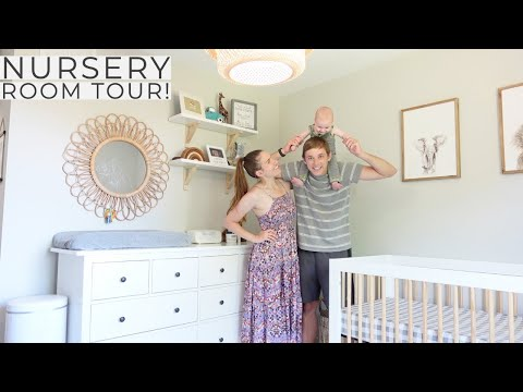 Gender Neutral Nursery Room Tour + Time Lapse With Belly Bump!