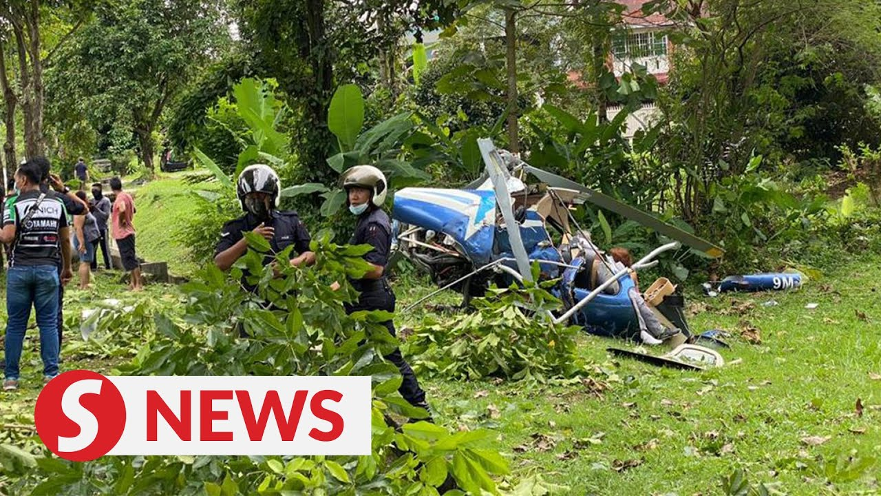 Helicopter Crashes In Taman Melawati Following Mid Air Collision Two Dead Youtube