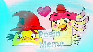 Angry birds Posin meme Poppy x Chuck❤
