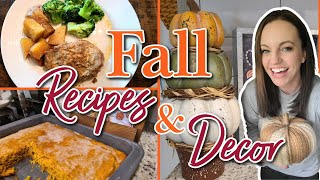 COZY FALL RECIPES  BATTER CHATTER  CROCKPOT MEAL  EASY FALL DESSERT  FALL DECORATE WITH ME